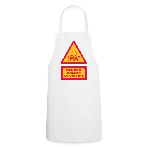 Danger homme cuisine - Tablier de cuisine