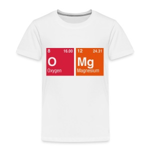 OMg written with Elements of the Periodic Table - Kinder Premium T-Shirt