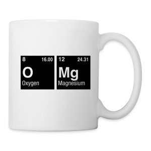 OMg written with Elements of the Periodic Table - Tasse