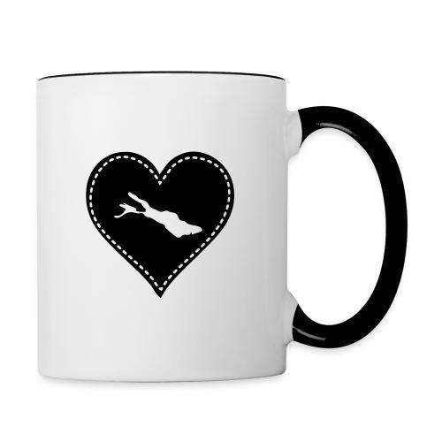 TASSE Bodensee schwarz - Tasse zweifarbig