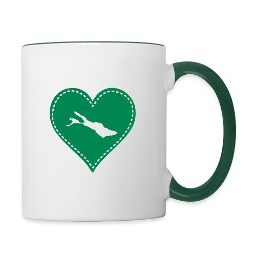 TASSE Bodensee grün - Tasse zweifarbig