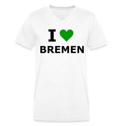 I Love BREMEN- T-Shirt mit V-Auschnitt - Männer Bio-T-Shirt mit V-Ausschnitt von Stanley & Stella