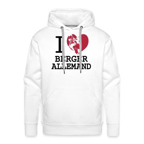 I love Berger allemand - Sweat-shirt à capuche Premium pour hommes