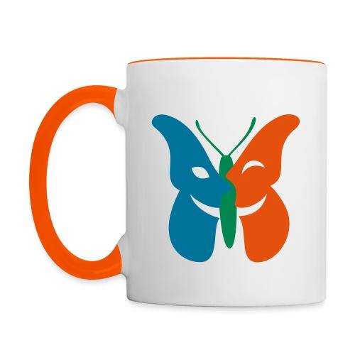 Drei-Symbole-Tasse - Tasse zweifarbig
