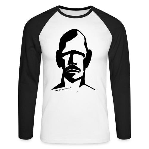 Kopf 3 - Männer Baseballshirt langarm