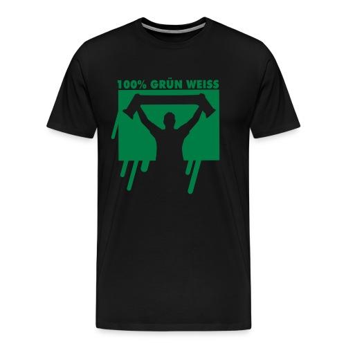 100% Grün Weiss T-Shirt  - Männer Premium T-Shirt