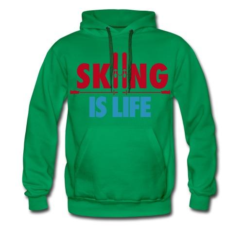 the style when you ski - Sweat-shirt à capuche Premium pour hommes
