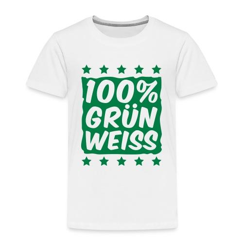 100& Grün Weiss Kinder T-Shirt - Kinder Premium T-Shirt