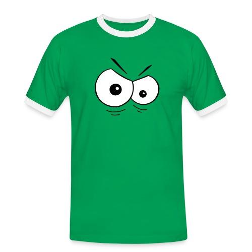 Böse Augen - Männer Kontrast-T-Shirt