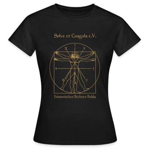 Matrix_Zahlen_gold - Frauen T-Shirt