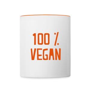 Vegan mug - Tasse bicolore