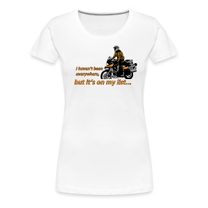 it's on my list (ein Motorrad) Ladies - Frauen Premium T-Shirt