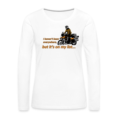 it's on my list (ein Motorrad) Longsleeve Ladies - Frauen Premium Langarmshirt