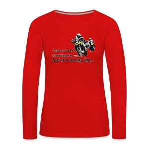 it's on my list (zwei Motorräder) Longsleeve Ladies - Frauen Premium Langarmshirt