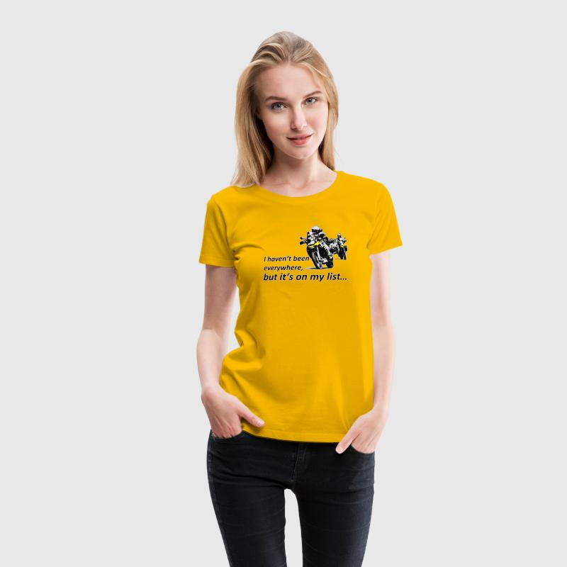 it's on my list (zwei Motorräder) Ladies - Frauen Premium T-Shirt