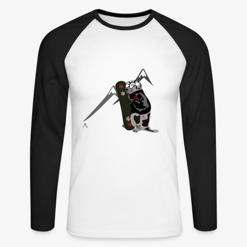 Baseball  - T-shirt baseball manches longues Homme