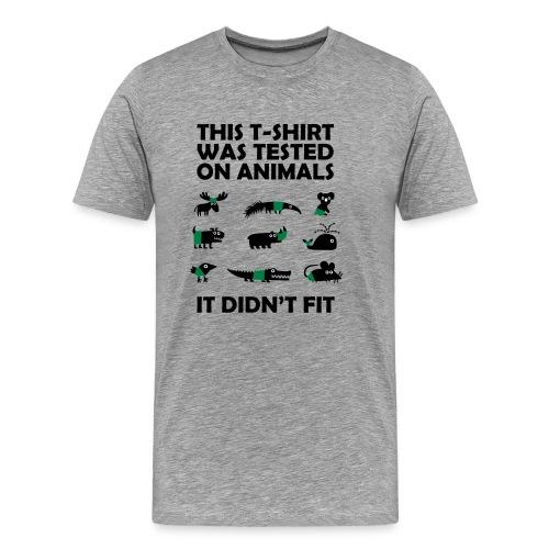 TestedOnAnimals - Premium-T-shirt herr