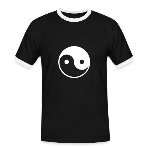 YING & YANG - Männer Kontrast-T-Shirt