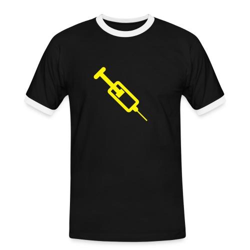 Spritze - Männer Kontrast-T-Shirt