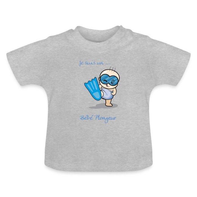 T-shirt BB Plongeur Garçon Gris
