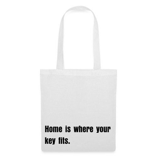 Home is where your key fits - Stoffbeutel