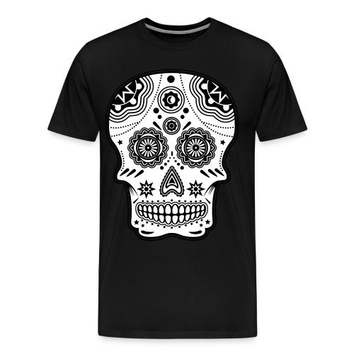 White Scull - Premium-T-shirt herr
