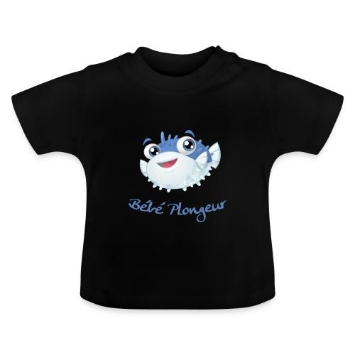 T-shirt Poisson Noir - T-shirt Bébé