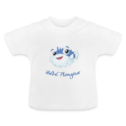 T-shirt Poisson Blanc - T-shirt Bébé