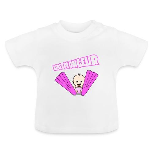 BB Plongeur ! Fille Blanc - T-shirt Bébé