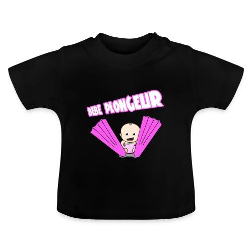 BB Plongeur ! Fille Noir - T-shirt Bébé