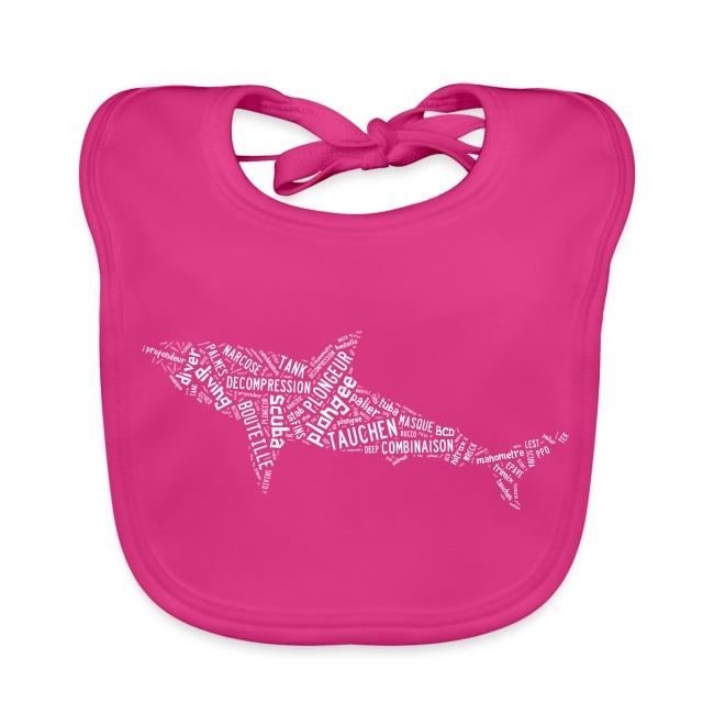 Bavoir Sharktag Rose