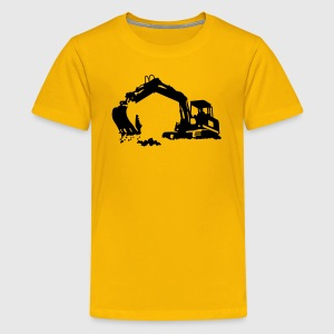 excavator Shirts - Teenager Premium T-shirt