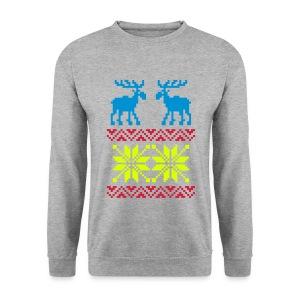 Rendier/sneeuwvlok - Mannen sweater