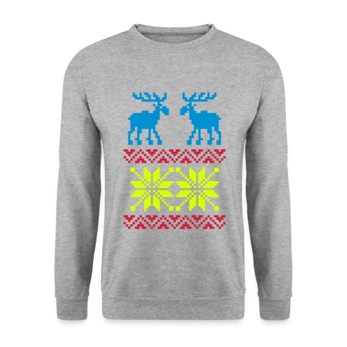 Rendier/sneeuwvlok - Mannen sweater