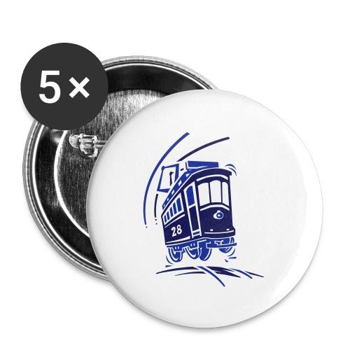 Bimmel die Straßenbahn - Buttons klein 25 mm