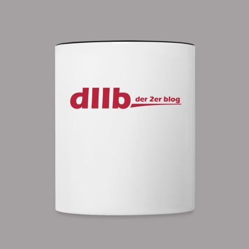 dIIb Logo zweifarbige Tasse - Tasse zweifarbig