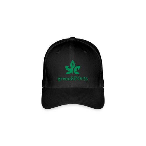 greenSPOrts Cap (schwarz) - Flexfit Baseballkappe