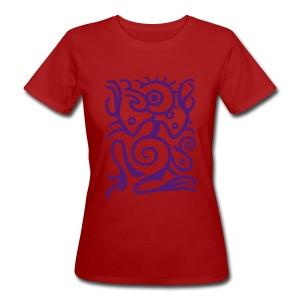 Maya Vogelmann, dunkelviolett - Frauen Bio-T-Shirt