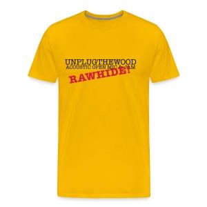 UnplugTheWood - Rawhide! - Men's Premium T-Shirt