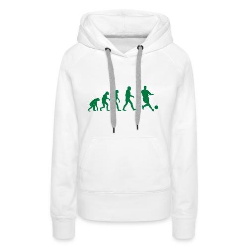 Football Evolution - Sweat-shirt à capuche Premium pour femmes