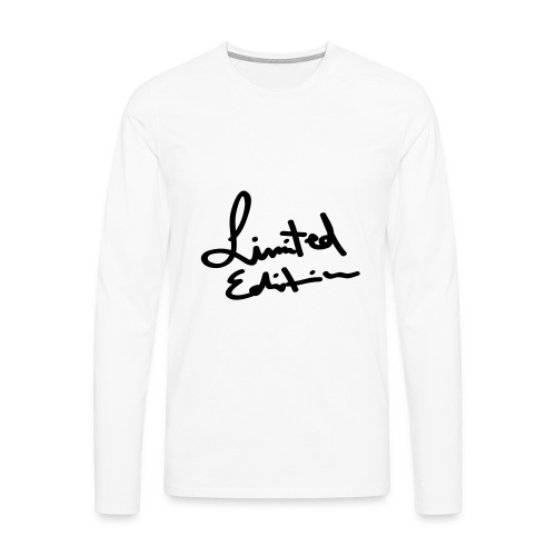 White Limited Edition Jumper - Men's Premium Longsleeve Shirt