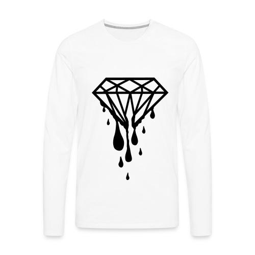 Whiite jumper Dripping Diamonds - Men's Premium Longsleeve Shirt