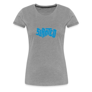 Slanted – Lean on Me / Grey Blue / Woman - Frauen Premium T-Shirt