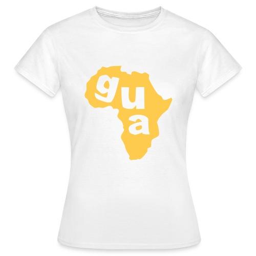 Gua Africa Ladies Map T-Shirt (White) - Women's T-Shirt