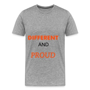 Mens Different And Proud Tshirt - Men's Premium T-Shirt
