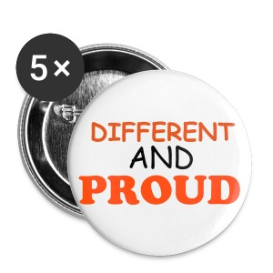 Different And Proud Buttons - Buttons large 56 mm