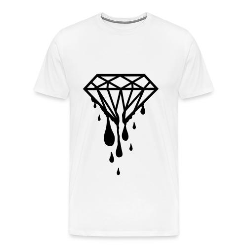 White Shirt Dripping Diamonds - Men's Premium T-Shirt