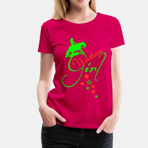 Western Girl Girlie Shirt - Frauen Premium T-Shirt