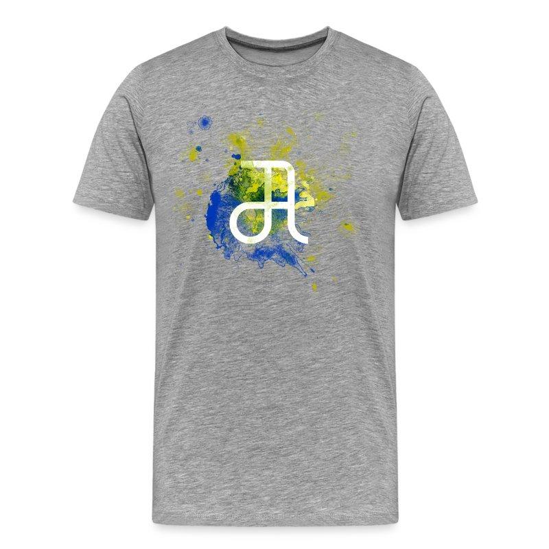 Glyphe Blaugelb ♂ - Männer Premium T-Shirt