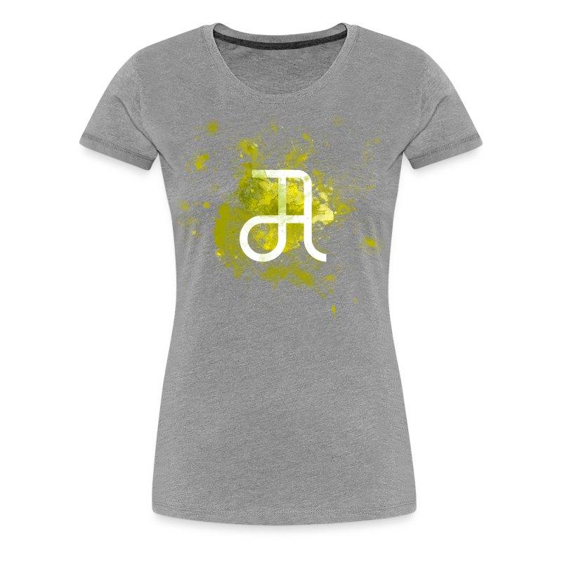 Glyphe Gelb ♀ - Frauen Premium T-Shirt